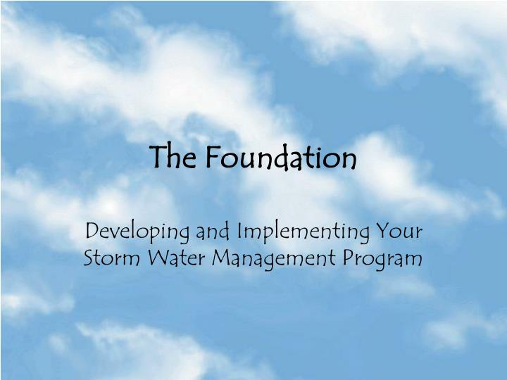 the foundation n.