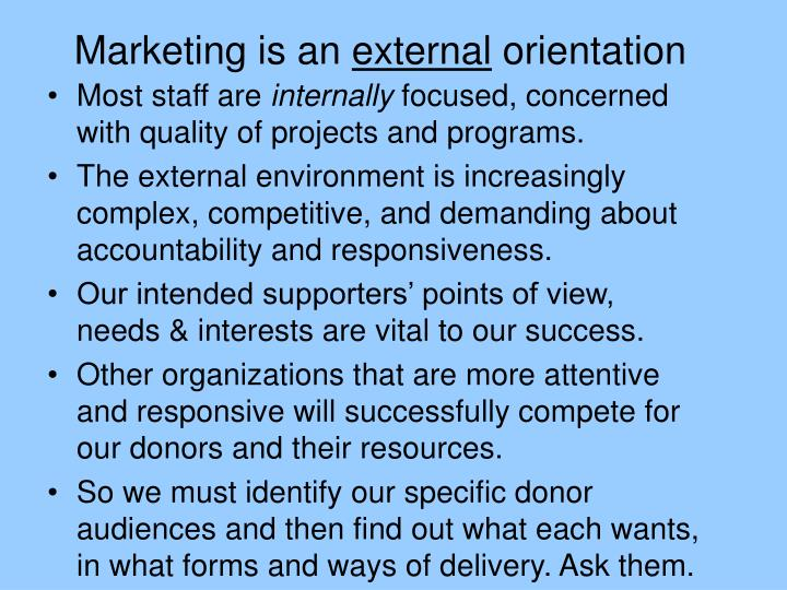 Marketing is an