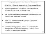 4 military centric approach to emergency mgmt