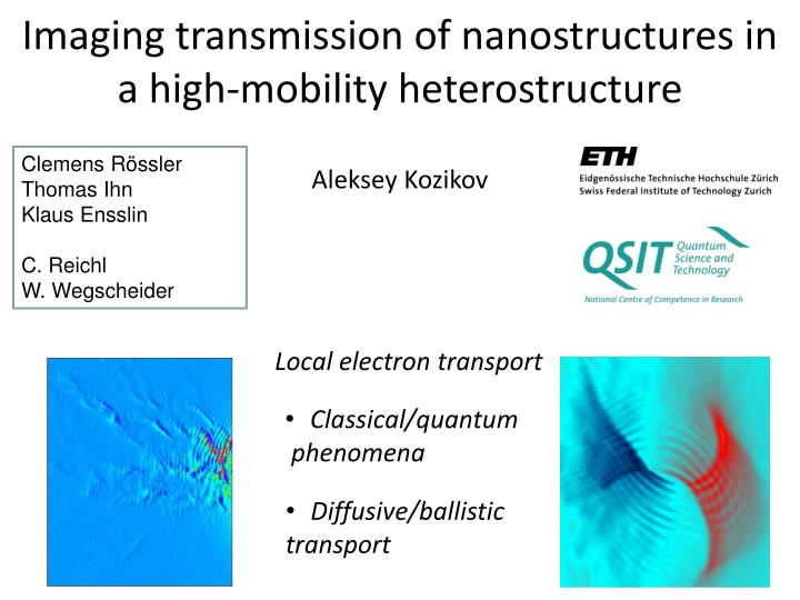 imaging transmission of nanostructures in a high mobility heterostructure n.