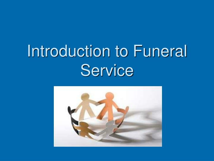 introduction to funeral service n.