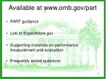 available at www omb gov part