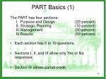 part basics 1