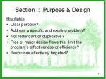 section i purpose design