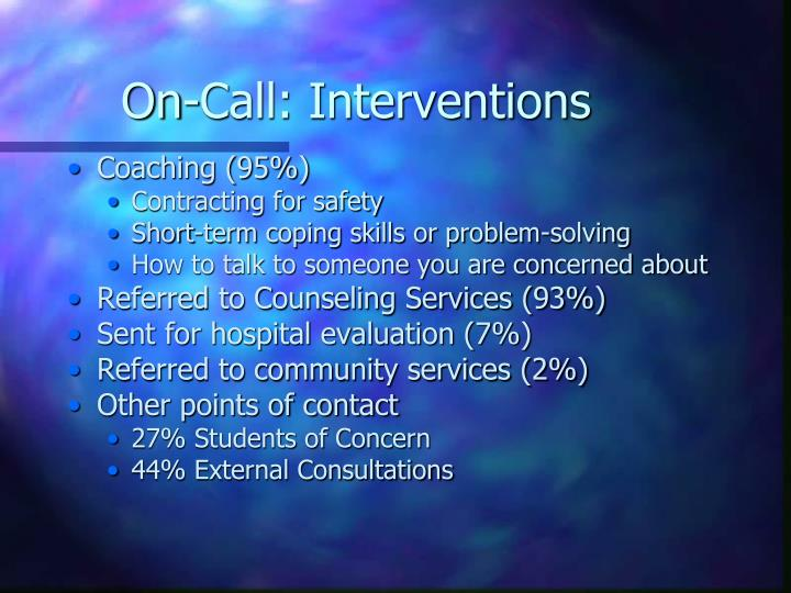 On-Call: Interventions