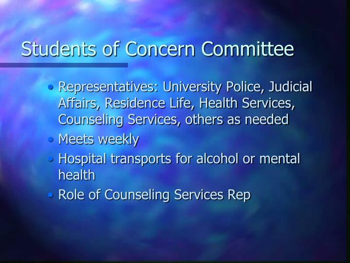 Students of Concern Committee