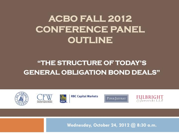 acbo fall 2012 conference panel outline n.