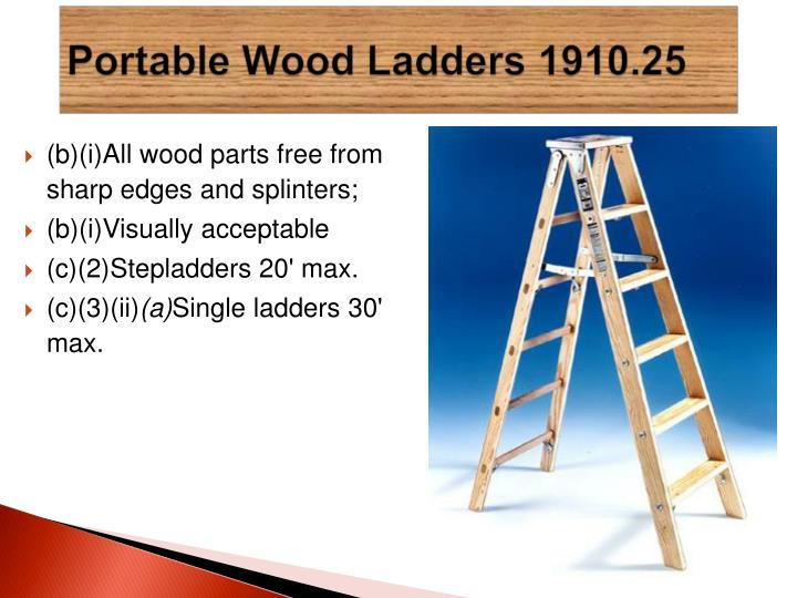 (b)(i)All wood parts free from sharp edges and splinters;
