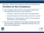 privacy act system of records notices and privacy act statements penalties for non compliance