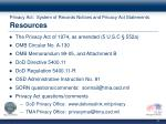 privacy act system of records notices and privacy act statements resources