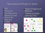 neuropsychological tests1