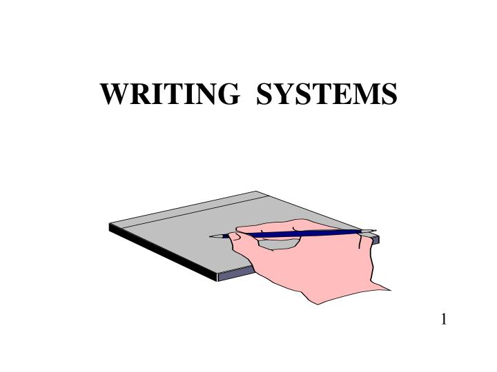 writing systems n.