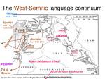 the west semitic language continuum