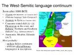 the west semitic language continuum1