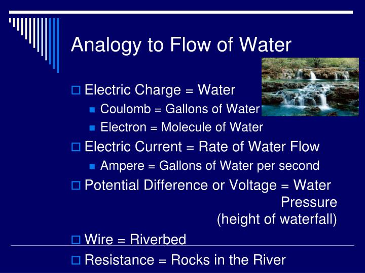 Analogy to Flow of Water