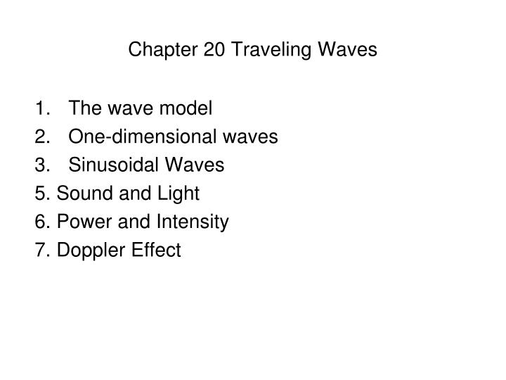 chapter 20 traveling waves n.