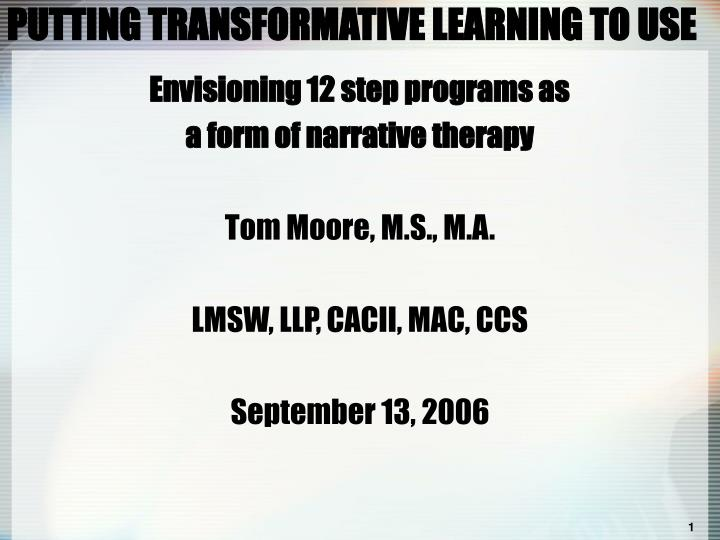 putting transformative learning to use n.