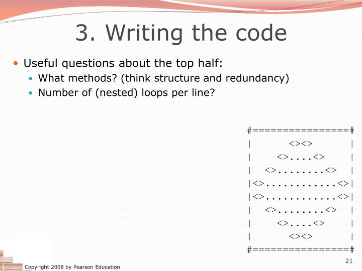 3. Writing the code