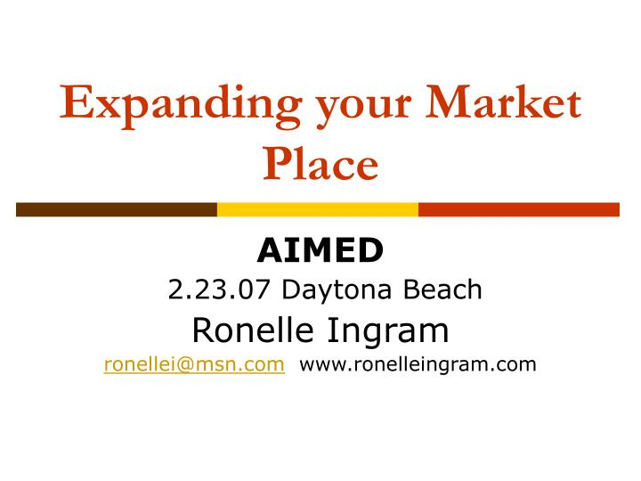 expanding your market place n.