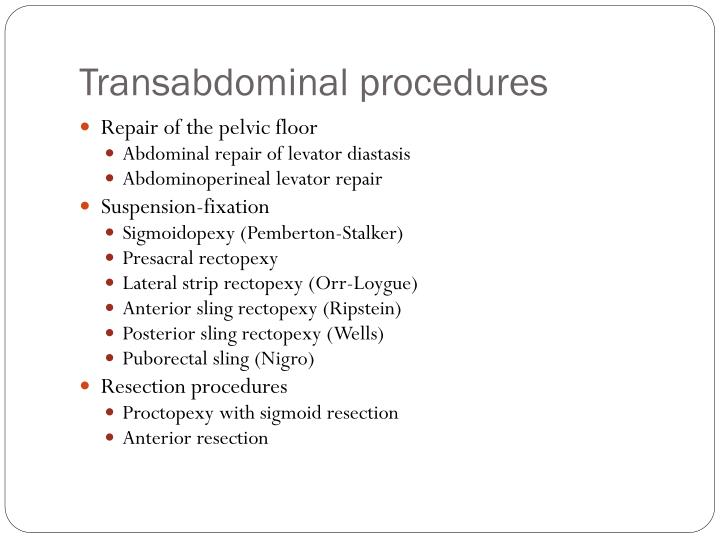 Ppt Rectal Prolapse Powerpoint Presentation Id 1750345