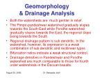 geomorphology drainage analysis