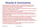 results conclusions