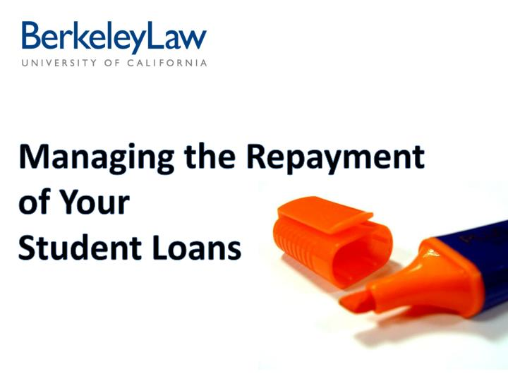 managing the repayment of your student loans n.
