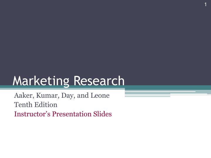 marketing research n.