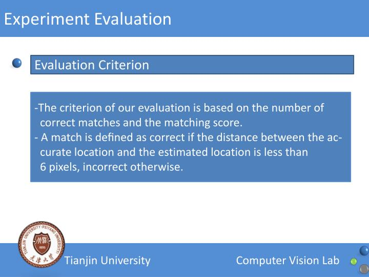 Experiment Evaluation