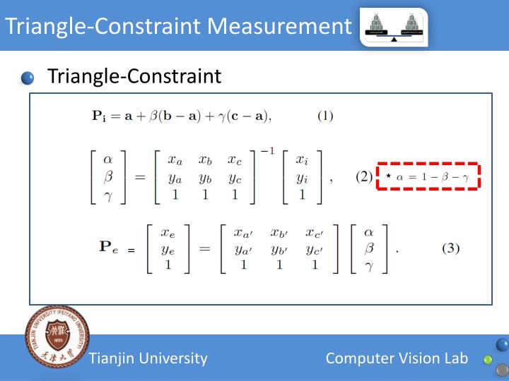 Triangle-Constraint Measurement