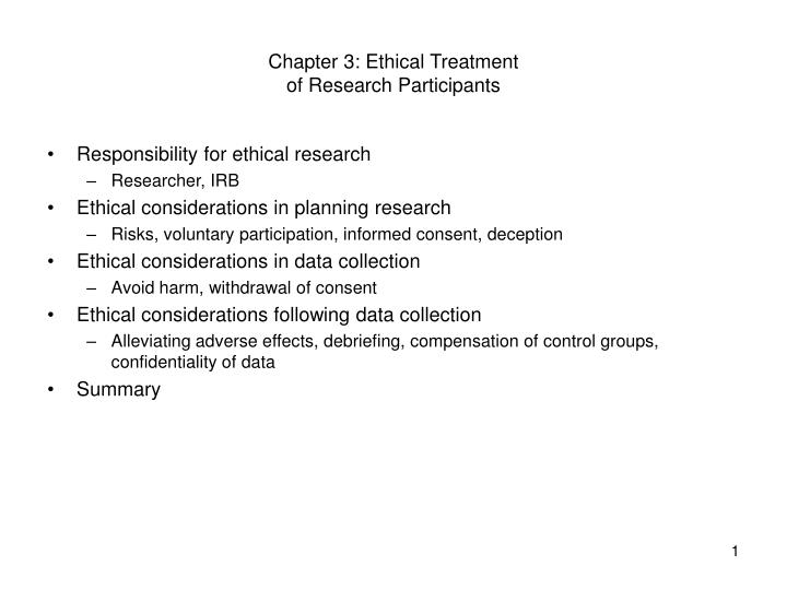 chapter 3 ethical treatment of research participants n.