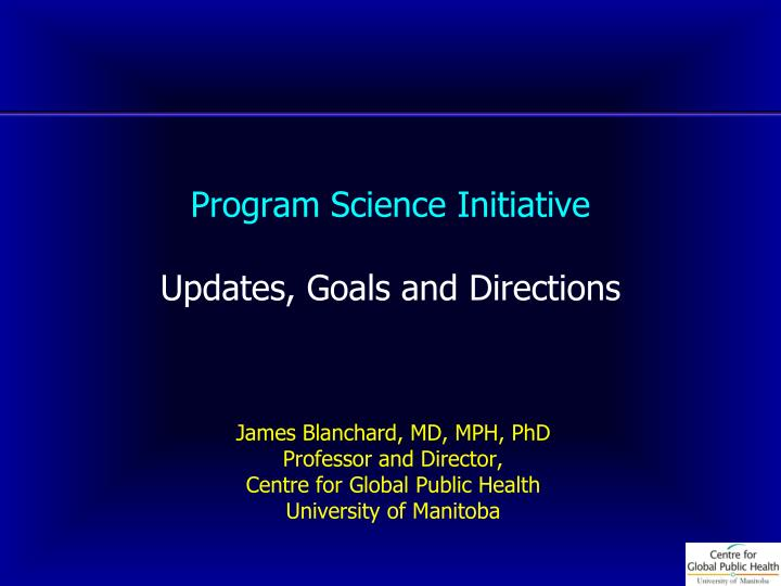 program science initiative updates goals and directions n.