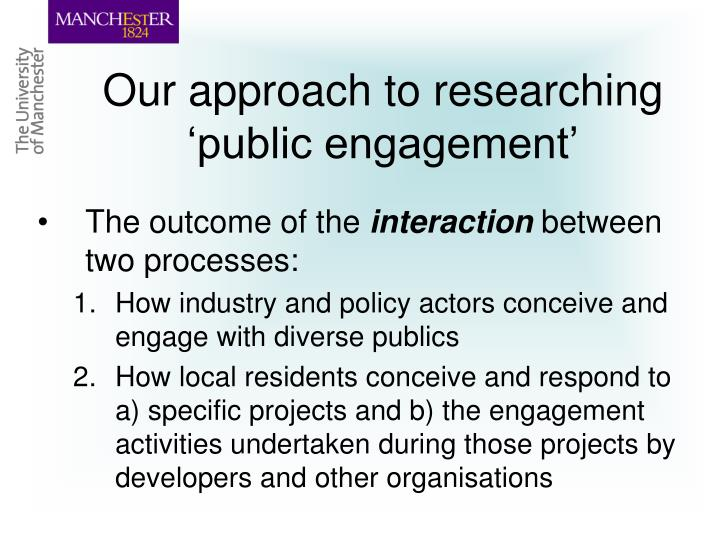 Our approach to researching 'public engagement'