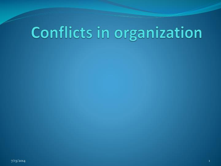 conflicts in organization n.