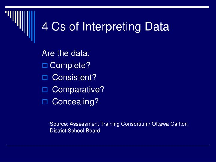 4 cs of interpreting data