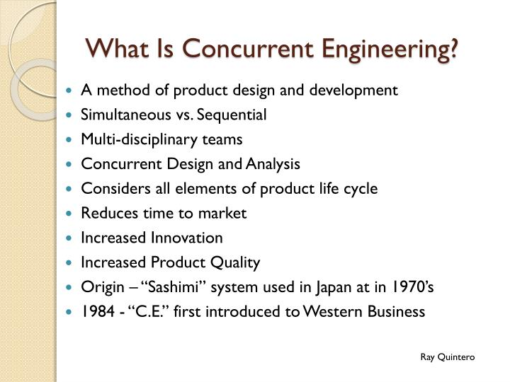 What is concurrent engineering