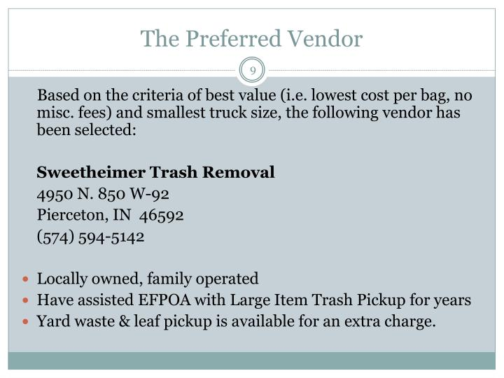The Preferred Vendor