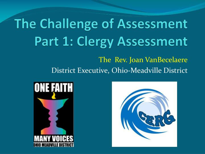 the challenge of assessment part 1 clergy assessment n.