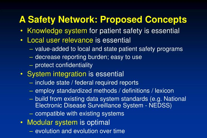 A Safety Network: Proposed Concepts