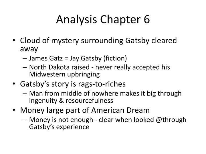 Analysis Chapter 6
