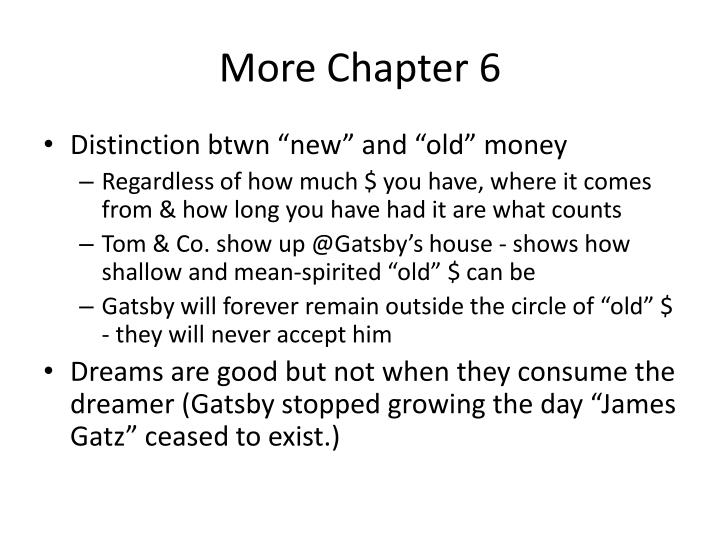 More Chapter 6