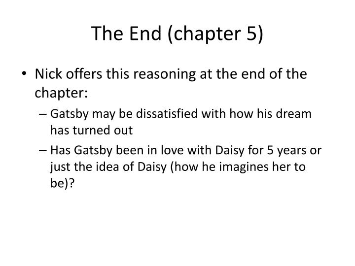 The End (chapter 5)