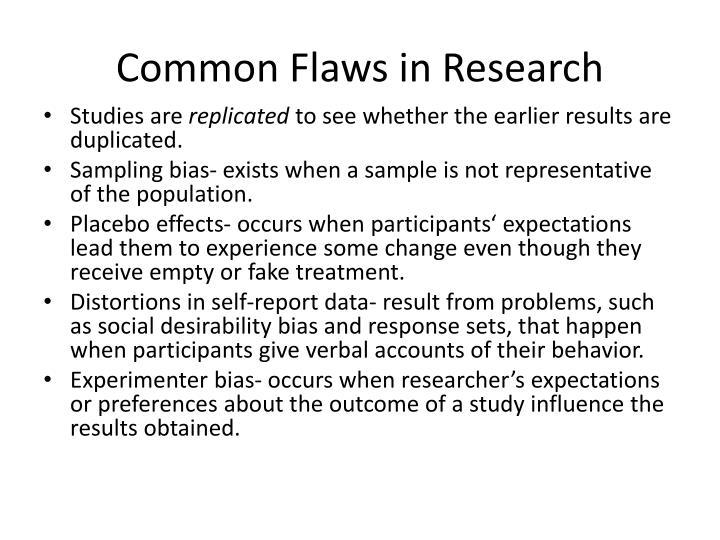 Common Flaws in Research