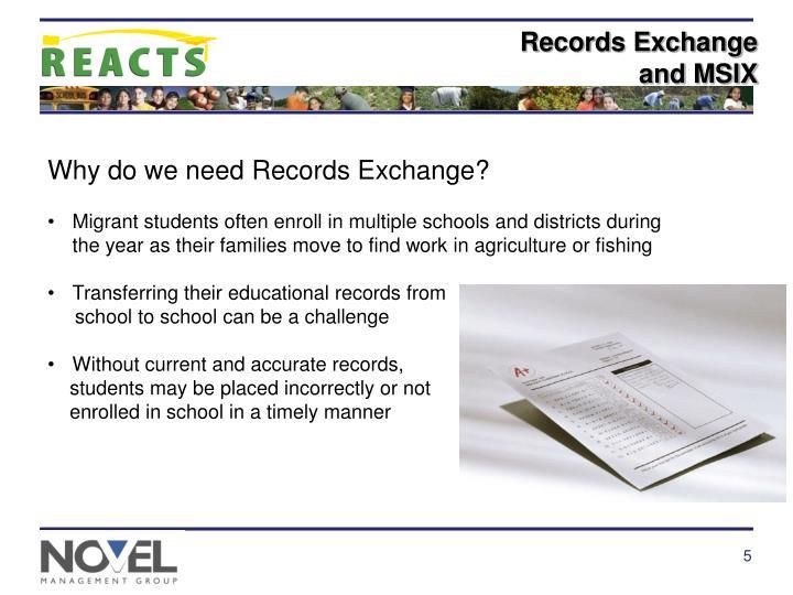 Records Exchange