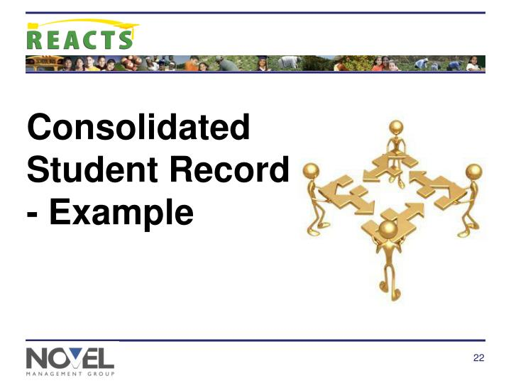 Consolidated Student Record - Example