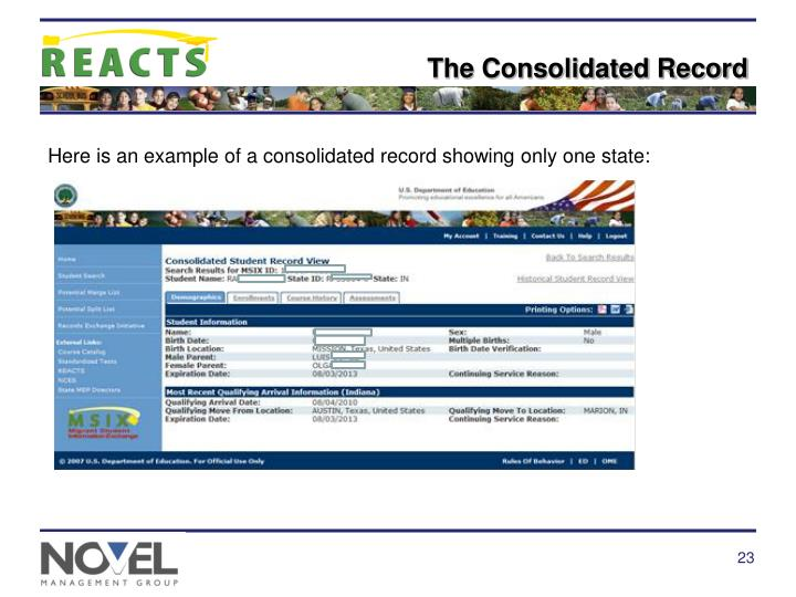 The Consolidated Record