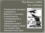 the raven 1943 le corbeau