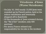 v lodrome d hiver winter velodrome