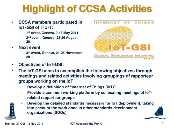Highlight of CCSA Activities