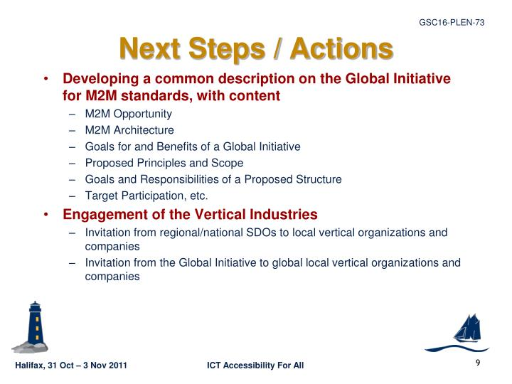 Next Steps / Actions
